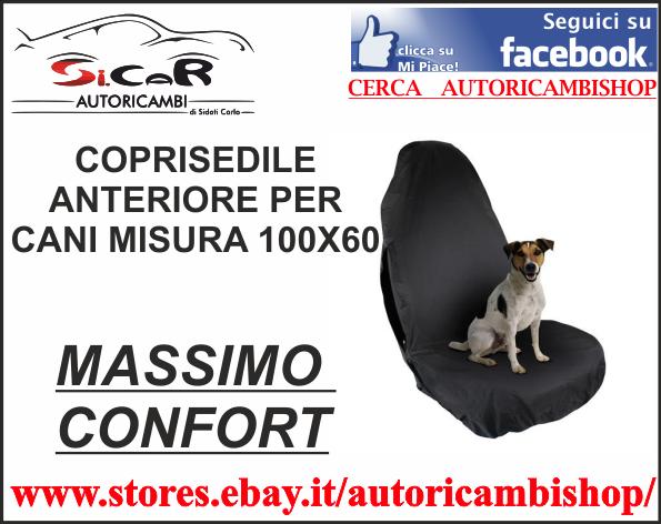 COPRISEDILE ANTERIORE IMPERMEABILE PER CANI GRANDEZZA 100X60 MAX CONFORT