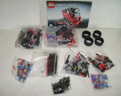 LEGO 8041 TECHNIC Race Truck Red 4 Wheeler Building Toy Set 608 pcs RETIRED