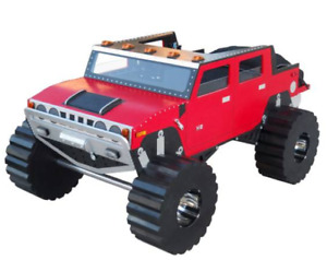 MONSTER TRUCK Custom Made Twin Size Bed -- ♥‿♥