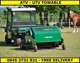 Paddock Sweeper. Manure Collector. Electric start paddock sweeper available