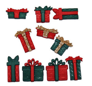 Dress-it-Up-034-Boxes-amp-Bows-034-Buttons-Christmas-Gifts-Presents