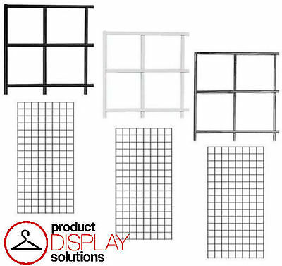 Free Shipping 2 X 4 Grid Gridwall Panels Black White Or Chrome Case Of 3
