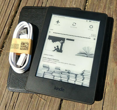 Amazon Kindle Paperwhite 3Rd  7Th Generation  4Gb Black  High Resolution 300Ppi