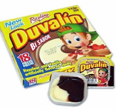 Mexican Candy Duvalin Hazelnut and Vanilla 18 Pieces Ricolino -
