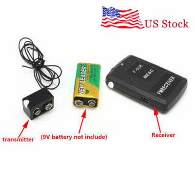 Wireless Transmitter Receiver Spy Bug Fm Audio Mini Listening Device Ear Bug