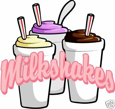 Milkshakes Concession Decal 14 Ice Cream Food Truck Cart Van Vinyl Sign Sticker