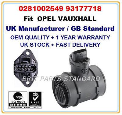 OPEL VAUXHALL CORSA C COMBO C 1.3 1.7 CDTI Mass Air Flow meter sensor 0281002549