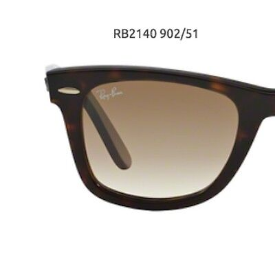 RAY BAN RB 2140 WAYFARER ORIGINAL REPLACEMENT LENSES GRADIENT BROWN SIZE 54 (Ray Ban Sunglasses Big Size)