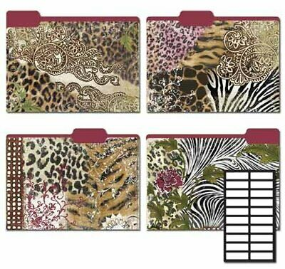 Karen Foster Design Decorative File Folders Modern Safari 8 Folders