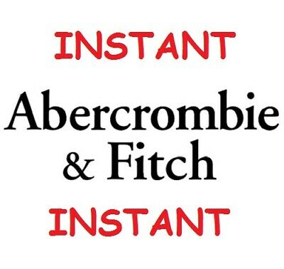 Abercrombie Fitch 15 Off Coupon Entire Purchase In Store Online Instant