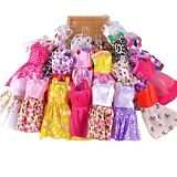 10 pcs/Lot Fashion Party Daily Wear Dress Outfits Clothes For Barbie Doll Toy US