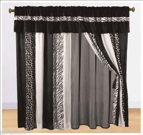 black and white bedroom curtains ebay