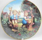 Hummel Plate Apple Tree Boy and Girl