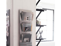 IKEA Spontan 3 Tier Newspaper Magazine Wall Mounted Storage Unit wall Rack