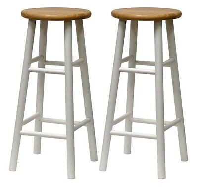 Winsome Beveled Seat (Set of 2, Beveled Seat, 30inch Stool, Assembled-Winsome 53780)
