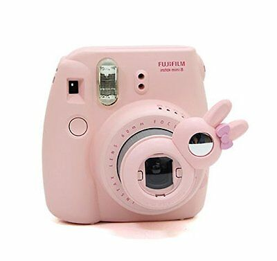 Fujifilm Instax Mini 8 Instant Camera Accessory Bundles Set PINK Case Selfie Fun