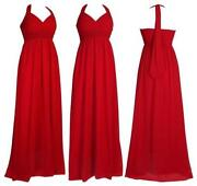 Red Long Evening Dresses Size 8