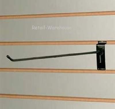 100 Black 12 Slatwall Peg Hooks Slat Wall Retail Display 6mm Diameter Tubing