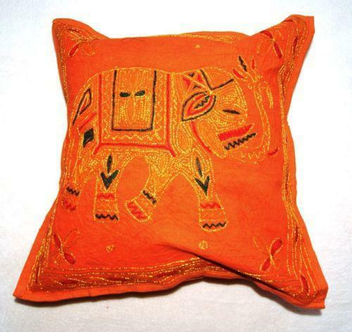 Indian Embroidered Cushion Ebay