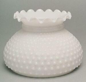 Milk glass shade ebay hobnail milk glass lamp shade aloadofball Gallery