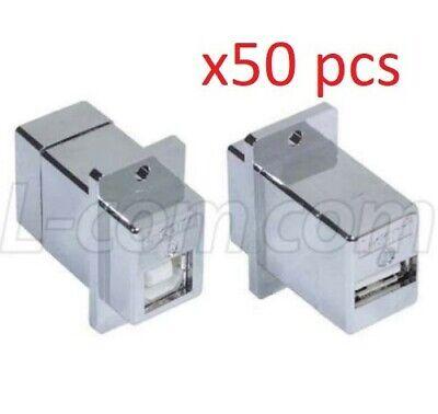 50 Pack L-com Ecf504-bas Usb Adapter B-a Shieldedpanel Mounted - 50pc Pack