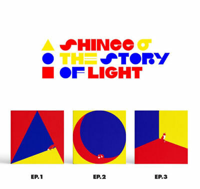 SHINEE THE STORY OF LIGHT EP 6th Album 3 Ver SET 3CD+3PBook+3Lyrics+3Card SEALED