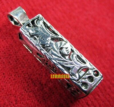 925 Sterling Silver MEZUZAH PENDANT WITH SHEMA YISRAEL SCROLL