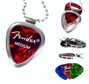 Steel Guitar Pick Necklace