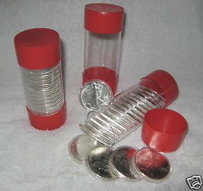 3 - Cap-Tube - Tite Airtite Coin Holders Model-H Silver Eagle Bullion Dollar.