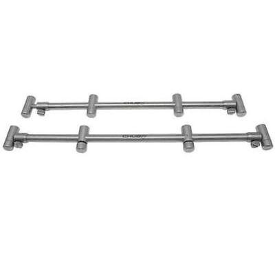 Chub Fishing stainless 4 rod adjustable buzz bars PAIR for carp rod pod 50% OFF