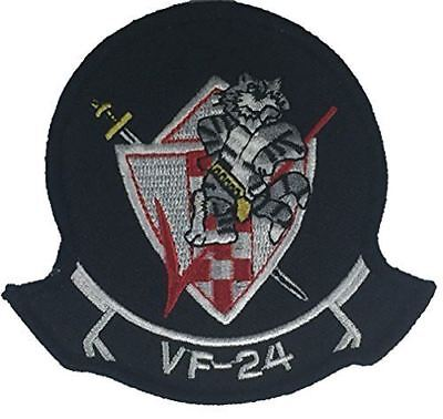 USN NAVY FIGHTER SQUADRON VF-24 PATCH FIGHTING RENEGADES RED CHECKERTAILS
