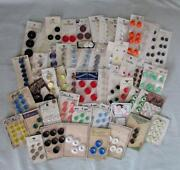 Large Lot Vintage Buttons