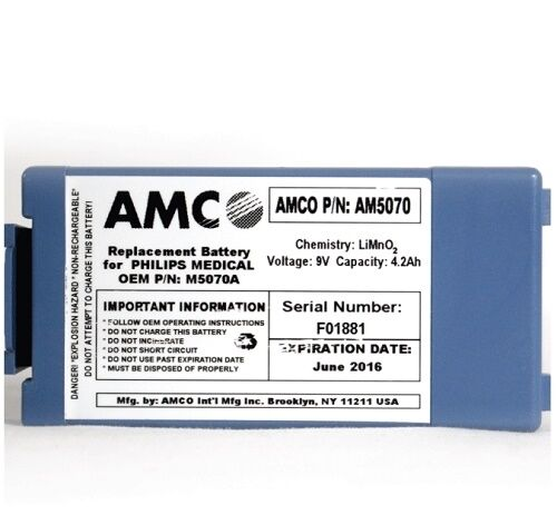 AMCO M5070A Replacement Battery - NEW EXP DATE