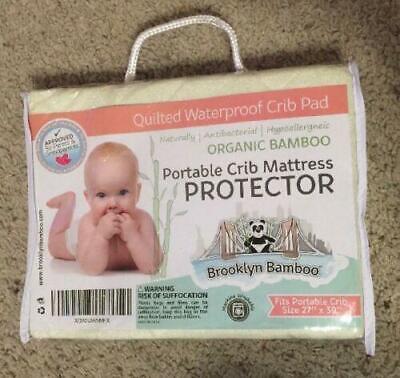 Brooklyn Bamboo Organic Bamboo Crib Toddler Mattress Pad Protector
