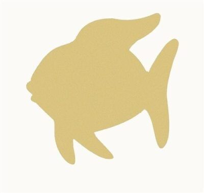 Wood Angel Fish Shape, Unfinished Shape, Wood Cutout, Wooden Paintable Craft (Fish Cutout)