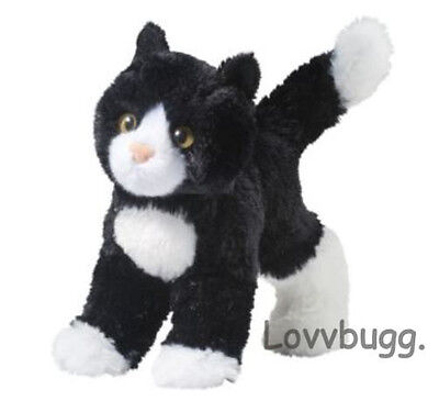 "Lovvbugg Black and White Plush Kitty Cat for 18"" American Girl Doll Accessory"