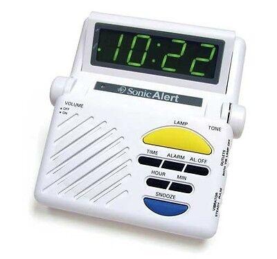Sonic Alert Sonic Boom SB1000 Alarm Clock W/ Lamp Flasher, Hard of Hearing, Deaf