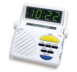 Sonic Alert Sonic Boom SB1000 Alarm Clock W/ Lamp Flasher, Hard of Hearing, Deaf