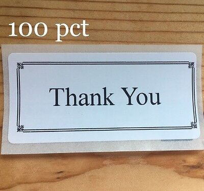 100 Thank You  Seals Labels Stickers 5 Star Envelope Package Positive Energy