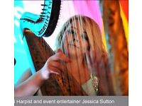 Harpist Professional Musician available for Weddings, Funerals and all other events