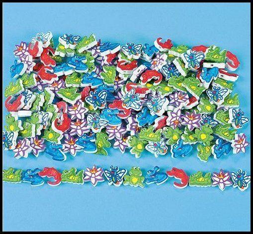 500 Foam Beads - Red Blue Green Alligator Frog Firefly Dragonfly Boys ABCraft