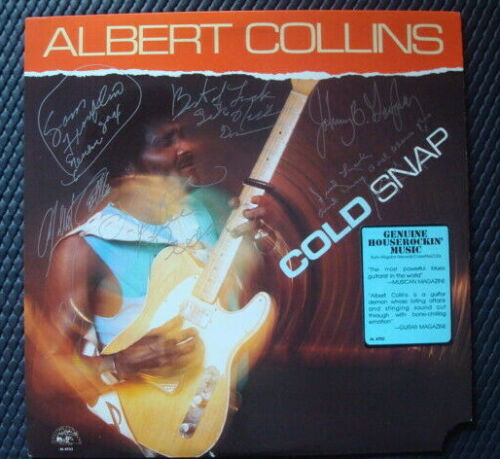 ALBERT COLLINS RECORD LP  AUTOGRAPHED by Collins and Band