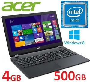 NEW OB ACER ASPIRE 15.6 LAPTOP PC - 131980770 - COMPUTER NOTEBOOK INTEL N3050 4GB MEMORY 500GB HDD WINDOWS 8