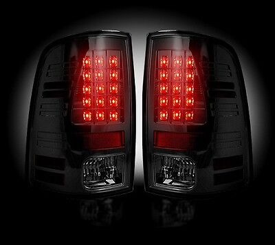 Recon Smoked LED Tail Lights 264236BK 2013-2017 Dodge Ram 1500 2500 3500 Trucks