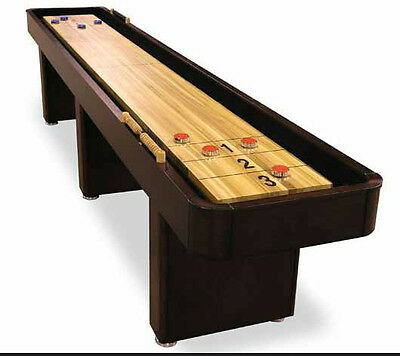 12 Foot Level Best Shuffleboard Table   Mahogany Or Chestnut Finish