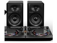 Pioneer DJ mixing deck WEGO4 & DM-40 speakers