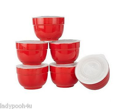 Gordon Ramsay 6pc Lock Round Porcelain Lock & Seal Storage Set Red