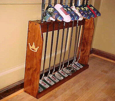 Wood Floor Display Rack for 10 Scotty Cameron Putters Golf Clubs & 10 Headcovers for sale  Lenoir