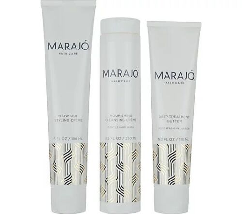 3 Step Hair Care Set Marajo Nourishing Cleansing Treatment System - $23.00