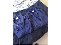 Two Unisex size Medium, Navy boiler suits